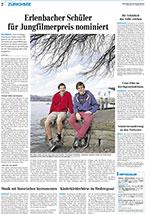 Die Erlenbacher Nick Weber und Livo Gloor sind für den Schweizer Jugendfilmpreis 2014 nominiert.